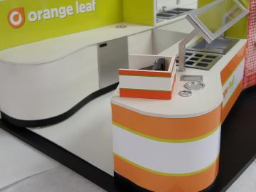 Orange Leaf Yogurt Kiosk
